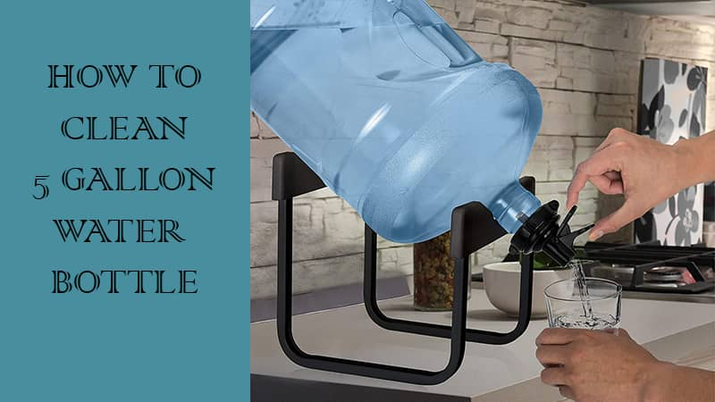 how to clean algae from 5 gallon water bottle