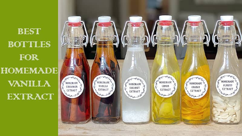 vanilla extract bottles and labels
